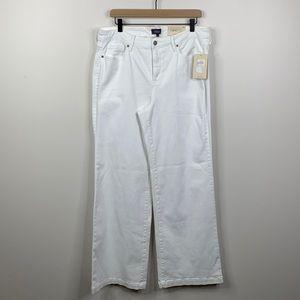 NYDJ Women's Wide Leg Trouser Jeans in Optic White